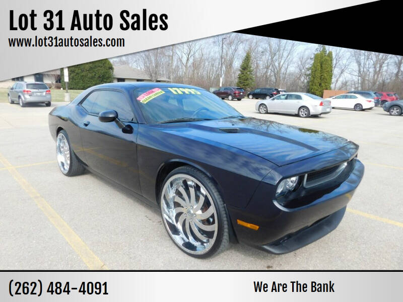 2012 Dodge Challenger for sale at Lot 31 Auto Sales in Kenosha WI