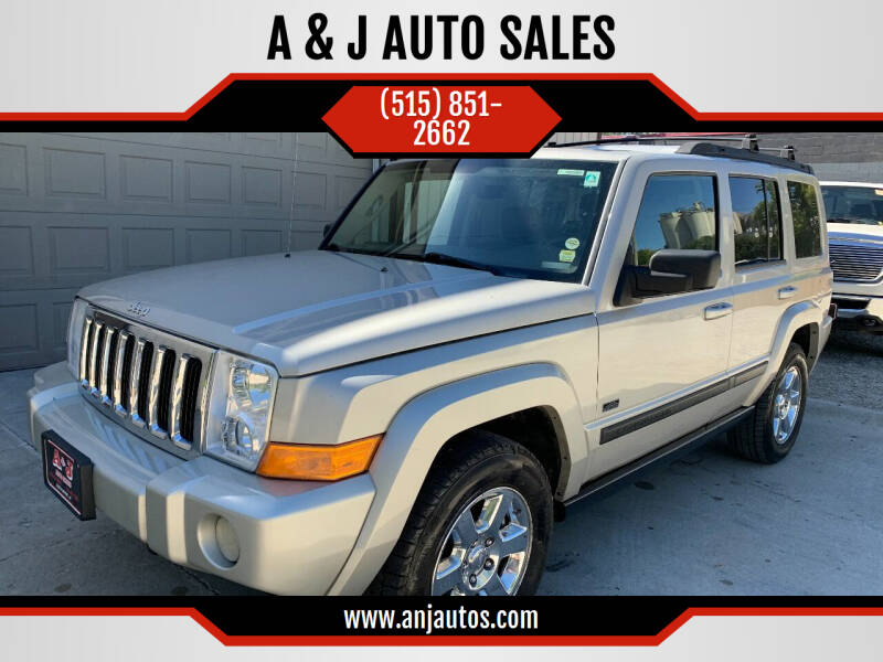2007 Jeep Commander for sale at A & J AUTO SALES in Eagle Grove IA