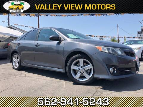 2013 Toyota Camry for sale at Valley View Motors in Whittier CA