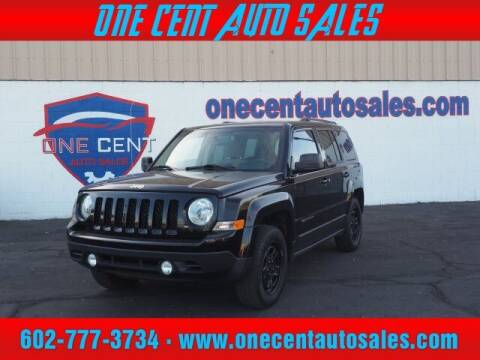 2017 Jeep Patriot for sale at One Cent Auto Sales in Glendale AZ