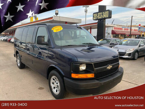 2011 Chevrolet Express Passenger for sale at Auto Selection of Houston in Houston TX