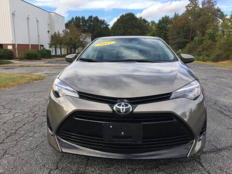 2017 Toyota Corolla for sale at Speed Auto Mall in Greensboro NC
