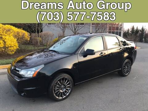 2010 Ford Focus for sale at Dreams Auto Group LLC in Sterling VA