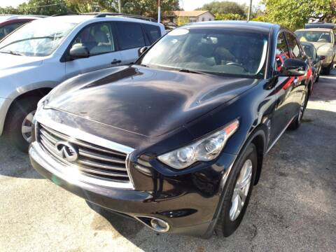 2013 Infiniti FX37 for sale at P S AUTO ENTERPRISES INC in Miramar FL