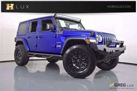 2020 Jeep Wrangler Unlimited for sale at HGREG LUX EXCLUSIVE MOTORCARS in Pompano Beach FL
