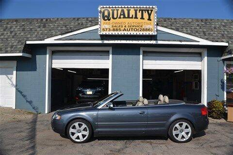 2005 Audi S4 for sale at Quality Pre-Owned Automotive in Cuba MO