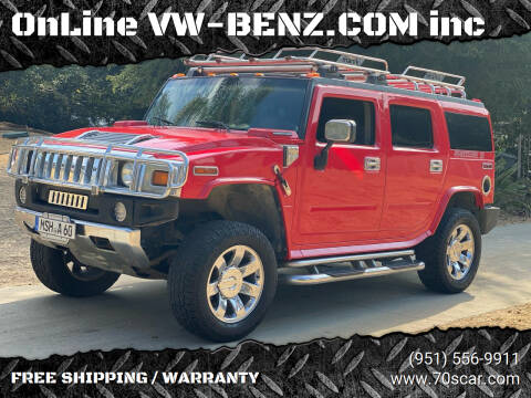 2003 HUMMER H2 for sale at Online AutoGroup FREE SHIPPING in Riverside CA