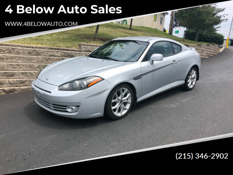 2007 Hyundai Tiburon for sale at 4 Below Auto Sales in Willow Grove PA