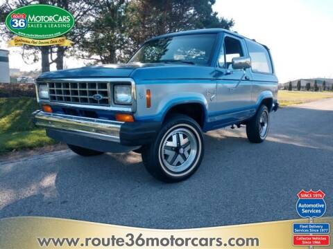 1985 Ford Bronco II for sale at ROUTE 36 MOTORCARS in Dublin OH