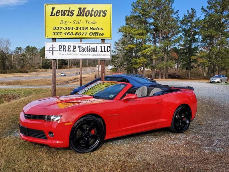 2015 Chevrolet Camaro for sale at Lewis Motors LLC in Deridder LA