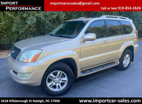 2007 Lexus GX 470 for sale at Import Performance Sales in Raleigh NC