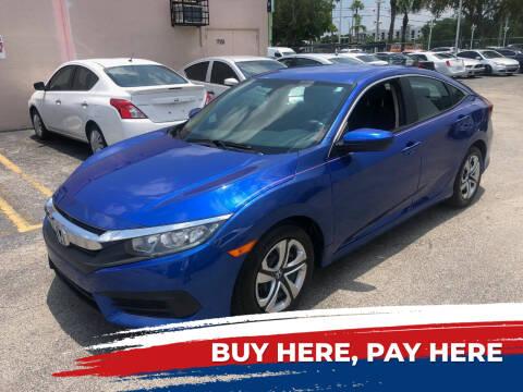 2016 Honda Civic for sale at Nationwide Auto Finance in Miami FL