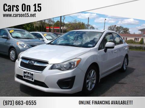 2013 Subaru Impreza for sale at Cars On 15 in Lake Hopatcong NJ
