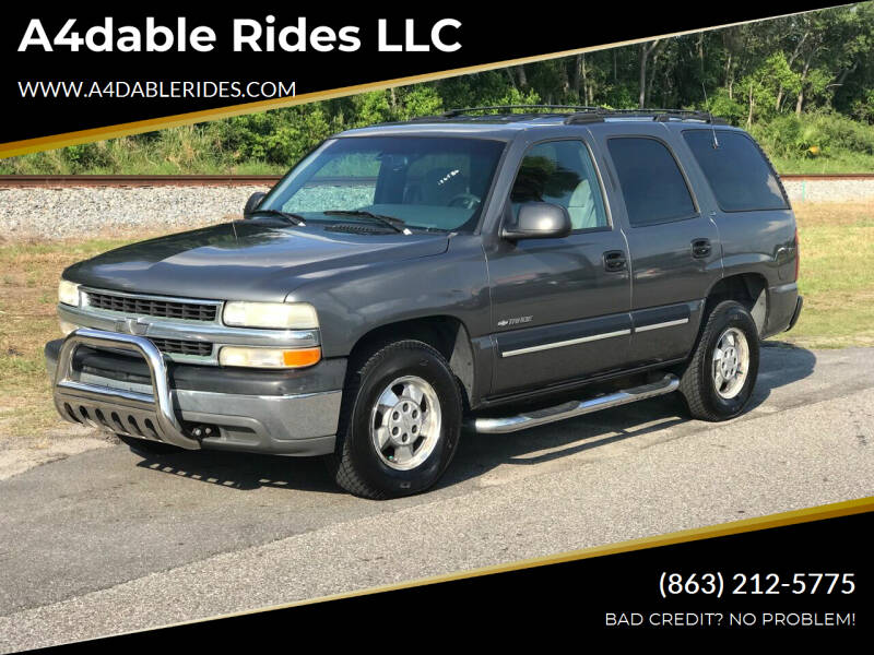 2001 Chevrolet Tahoe for sale at A4dable Rides LLC in Haines City FL