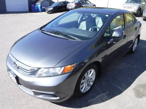 2012 Honda Civic for sale at J & K Auto - J and K in Saint Bonifacius MN