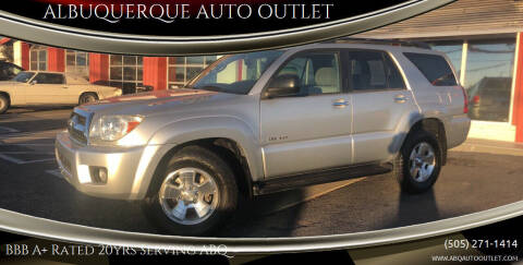 2008 Toyota 4Runner for sale at ALBUQUERQUE AUTO OUTLET in Albuquerque NM