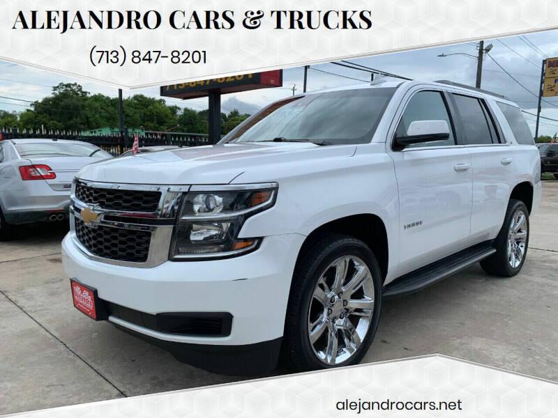 2015 Chevrolet Tahoe for sale at Alejandro Cars & Trucks Inc in Houston TX