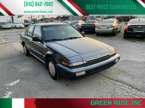 1988 Honda Accord for sale at Green Ride Inc in Nashville TN