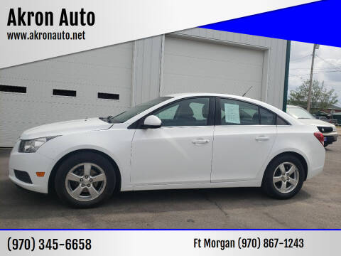 2013 Chevrolet Cruze for sale at Akron Auto - Fort Morgan in Fort Morgan CO