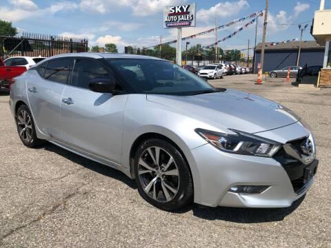 2016 Nissan Maxima for sale at SKY AUTO SALES in Detroit MI