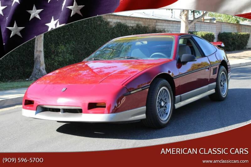 1987 Pontiac Fiero for sale at American Classic Cars in La Verne CA