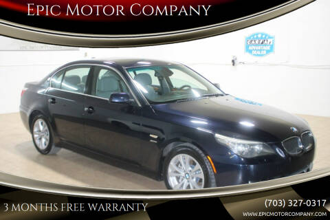 2009 BMW 5 Series for sale at Epic Motor Company in Chantilly VA