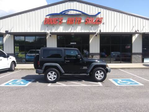 2013 Jeep Wrangler for sale at DOUG'S AUTO SALES INC in Pleasant View TN
