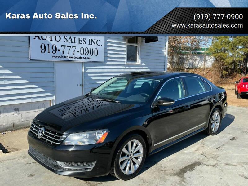 2012 Volkswagen Passat for sale at Karas Auto Sales Inc. in Sanford NC