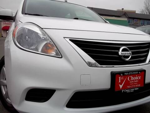 2014 Nissan Versa for sale at 1st Choice Auto Sales in Fairfax VA