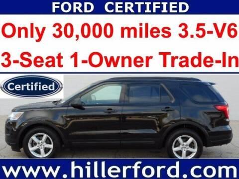 2018 Ford Explorer for sale at HILLER FORD INC in Franklin WI