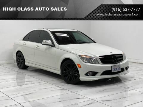 2009 Mercedes-Benz C-Class for sale at HIGH CLASS AUTO SALES in Rancho Cordova CA