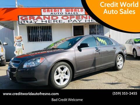 2012 Chevrolet Malibu for sale at Credit World Auto Sales in Fresno CA