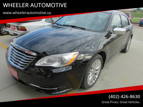 2012 Chrysler 200 for sale at WHEELER AUTOMOTIVE in Blair NE