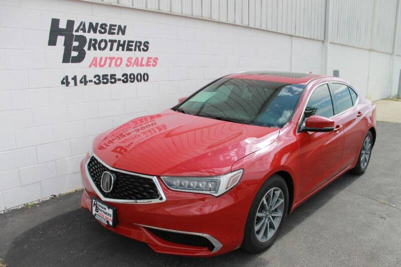 2018 Acura TLX for sale at HANSEN BROTHERS AUTO SALES in Milwaukee WI