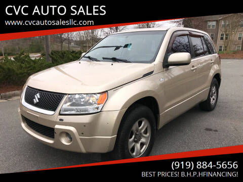 2007 Suzuki Grand Vitara for sale at CVC AUTO SALES in Durham NC