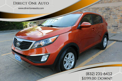 2012 Kia Sportage for sale at Direct One Auto in Houston TX