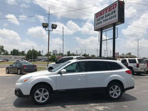 2013 Subaru Outback for sale at United Auto Sales in Oklahoma City OK