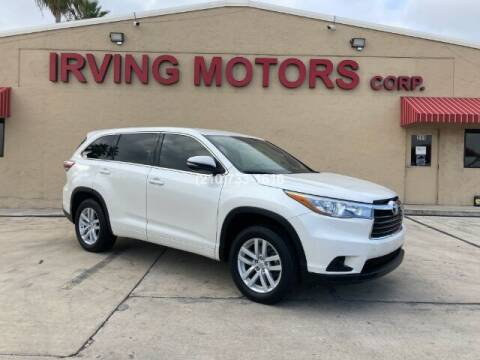 2015 Toyota Highlander for sale at Irving Motors Corp in San Antonio TX