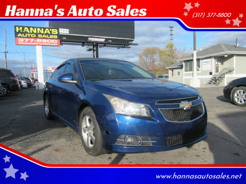 2012 Chevrolet Cruze for sale at Hanna's Auto Sales in Indianapolis IN