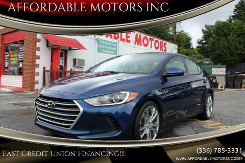 2017 Hyundai Elantra for sale at AFFORDABLE MOTORS INC in Winston Salem NC