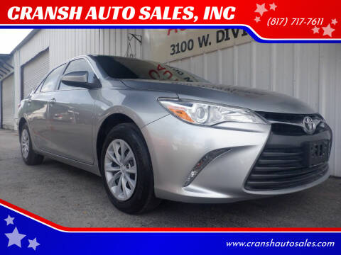 2017 Toyota Camry for sale at CRANSH AUTO SALES, INC in Arlington TX
