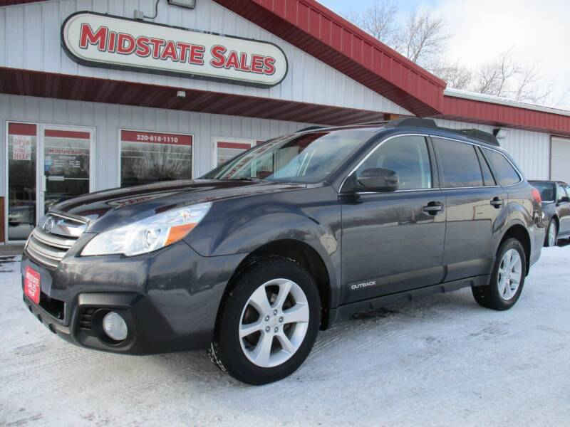 2013 Subaru Outback for sale at Midstate Sales in Foley MN