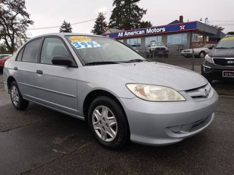 2004 Honda Civic for sale at All American Motors in Tacoma WA