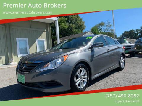 2014 Hyundai Sonata for sale at Premier Auto Brokers in Virginia Beach VA