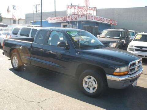 2002 Dodge Dakota for sale at AUTO WHOLESALE OUTLET in North Hollywood CA