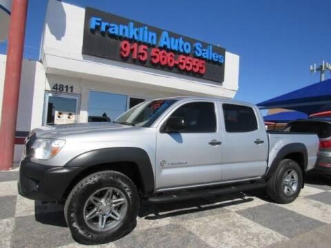 2013 Toyota Tacoma for sale at Franklin Auto Sales in El Paso TX