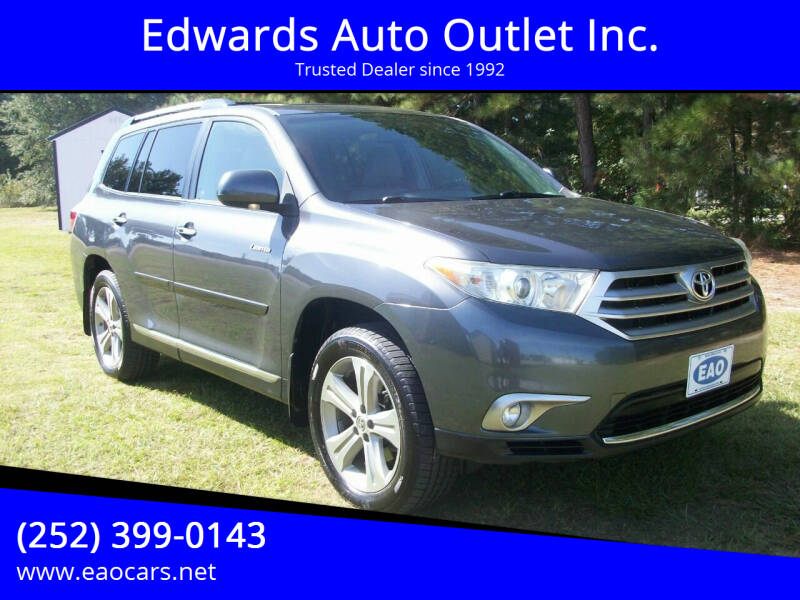 2013 Toyota Highlander for sale at Edwards Auto Outlet Inc. in Wilson NC