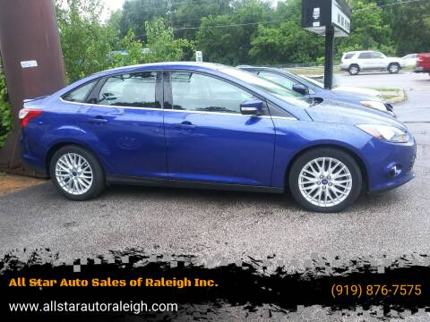 2013 Ford Focus for sale at All Star Auto Sales of Raleigh Inc. in Raleigh NC