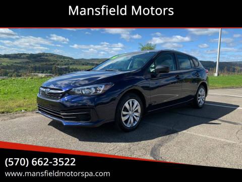 2020 Subaru Impreza for sale at Mansfield Motors in Mansfield PA