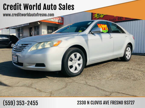 2007 Toyota Camry for sale at Credit World Auto Sales in Fresno CA